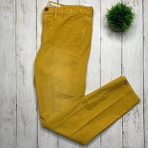Madewell Yellow Corduroy Pants Size 28